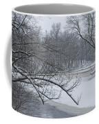 Flat River In Winter No.026 Coffee Mug