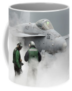 Flight Deck Personnel Are Surrounded Coffee Mug by Stocktrek Images