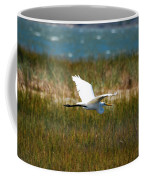 Flight Of The Egret Coffee Mug