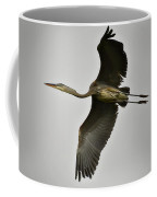 Flight Of The Great Blue Heron Coffee Mug