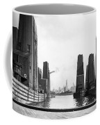 Floating Grain Elevators In Ny Coffee Mug