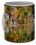 Floating Leaves In Tranquility Coffee Mug