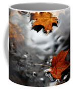 Floating Maple Leaves Coffee Mug