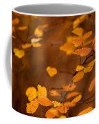 Floating On Orange Fall Leaves Coffee Mug