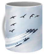 Flock Of Canada Geese At Air Show Coffee Mug