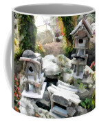 Flock Of Rustic Birdhouses Coffee Mug