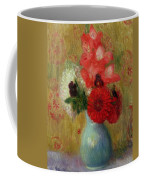 Floral Arrangement In Green Vase Coffee Mug