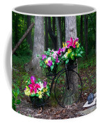 Floral Bicycle On A Cloudy Day Coffee Mug