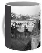 Florence Italy - Vecchio Bridge And River Arno Coffee Mug