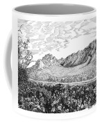 Florida Mountains And Poppies Coffee Mug by Jack Pumphrey