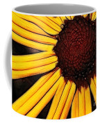 Flower - Yellow And Brown - Abstract Coffee Mug