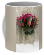 Flower Pots On Old Wall Coffee Mug