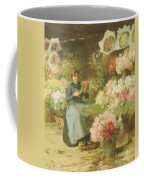 Flower Seller In Front Of The Madeleine Church Coffee Mug