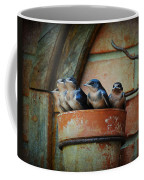 Flowerpot Swallows Coffee Mug by Jai Johnson