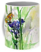 Flowers And Butterfly Coffee Mug