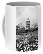 Flowers At Citi Field In Black And White Coffee Mug by Rob Hans