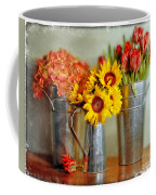 Flowers In Cans Coffee Mug