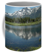 Flowers On The Lake Coffee Mug
