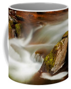 Flowing River Blurred Through Rocks Coffee Mug