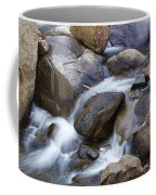 Flowing Water Down The Colorado St Vrain River Coffee Mug