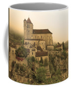 Fog Descending On St Cirq Lapopie In Sepia Coffee Mug