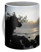 Fog On The Rocks Sunrise Coffee Mug