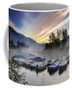 Foggy Port In Sunrise Coffee Mug