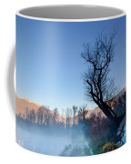 Foggy Road With A Tree Coffee Mug
