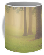 Foggy Trees Pano Coffee Mug