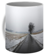 Foggy Winter Road Coffee Mug