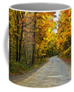 Follow The Yellow Leafed Road Painted Coffee Mug