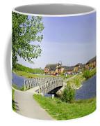 Foot-bridge And Lake - Barton Marina Coffee Mug
