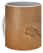 Foot Print Coffee Mug by Carlos Caetano