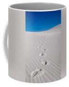 Foot Prints In White Sands 2 Coffee Mug