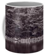Forest At Jordan Pond Acadia Bw Coffee Mug