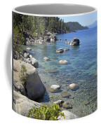 Forested Shores Of Lake Tahoe Coffee Mug