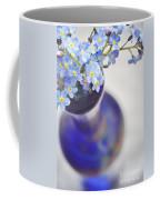 Forget Me Nots In Deep Blue Vase Coffee Mug