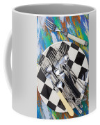 Forks On Checker Plate Coffee Mug