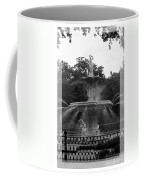 Forsyth Park Fountain - Black And White Coffee Mug