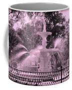 Forsyth Park Fountain In Pink Coffee Mug