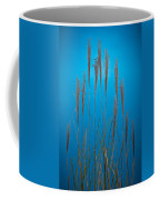 Fountain Grass In Blue Coffee Mug
