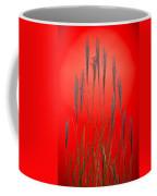 Fountain Grass In Red Coffee Mug