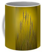 Fountain Grass In Yellow Coffee Mug