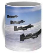 Four A-10 Thunderbolt IIs Fly Coffee Mug