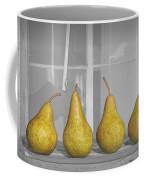 Four Pears On Windowsill Coffee Mug