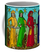 Four Temperaments, Medieval Woodcut Coffee Mug