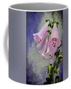Fox Glove Blue Grunge Coffee Mug by Bill Cannon