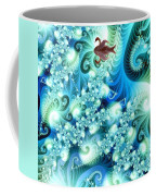 Fractal And Swan Coffee Mug