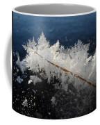Fractal Frosty Ice Crystals Coffee Mug