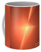 Fractal Orange Star Coffee Mug